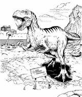 Imprimer le coloriage : T-rex, numéro 534468