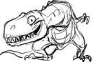 Imprimer le coloriage : T-rex, numéro 677580