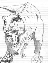 Imprimer le coloriage : T-rex, numéro defd3487