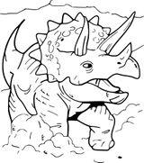 Imprimer le coloriage : Triceratops, numéro 11d51e65
