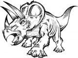 Imprimer le coloriage : Triceratops, numéro 220167