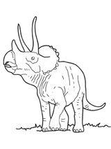 Imprimer le coloriage : Triceratops, numéro 220169