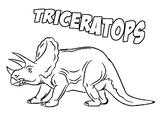 Imprimer le coloriage : Triceratops, numéro 220173
