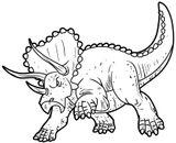 Imprimer le coloriage : Triceratops, numéro 220177