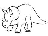 Imprimer le coloriage : Triceratops, numéro 220182