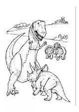 Imprimer le coloriage : Triceratops, numéro 220191