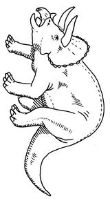 Imprimer le coloriage : Triceratops, numéro 226690