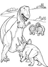 Imprimer le coloriage : Triceratops, numéro 235395