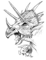 Imprimer le coloriage : Triceratops, numéro 268575