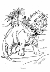 Imprimer le coloriage : Triceratops, numéro 310550