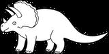 Imprimer le coloriage : Triceratops, numéro 469688