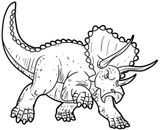 Imprimer le coloriage : Triceratops, numéro 4dcfa308