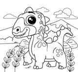 Imprimer le coloriage : Triceratops, numéro 82c63d5d
