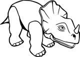 Imprimer le coloriage : Triceratops, numéro bc553b74