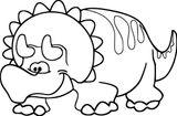 Imprimer le coloriage : Triceratops, numéro fd079852