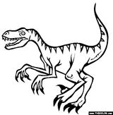 Imprimer le coloriage : Vélociraptor, numéro 220210