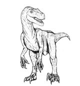 Velociraptor on aston martin coloring pages