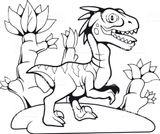 Imprimer le coloriage : Vélociraptor, numéro 378959f2
