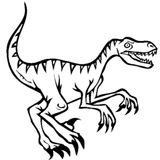 Imprimer le coloriage : Vélociraptor, numéro 44093e27