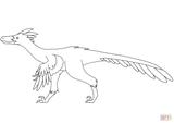 Imprimer le coloriage : Vélociraptor, numéro f3a2bdd1