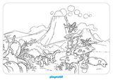Imprimer le coloriage : Dinosaures, numéro ec6e6cdf