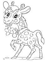 Imprimer le coloriage : Girafe, numéro 2eac1b19