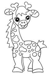 Imprimer le coloriage : Girafe, numéro 3d3037c