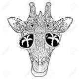 Imprimer le coloriage : Girafe, numéro 4bb5c05f