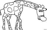 Imprimer le coloriage : Girafe, numéro 51f8e89
