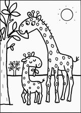 Imprimer le coloriage : Girafe, numéro 636a212a
