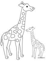 Imprimer le coloriage : Girafe, numéro 754220