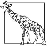 Imprimer le coloriage : Girafe, numéro 758818