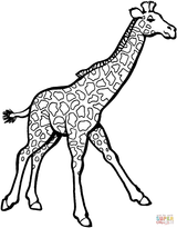 Imprimer le coloriage : Girafe, numéro 91874b5