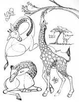 Imprimer le coloriage : Girafe, numéro 9d214fd1