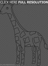 Imprimer le coloriage : Girafe, numéro a2846ff5