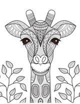 Imprimer le coloriage : Girafe, numéro b23202eb