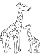 Imprimer le coloriage : Girafe, numéro d4c9f43