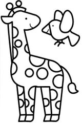 Imprimer le coloriage : Girafe, numéro f4e0d281