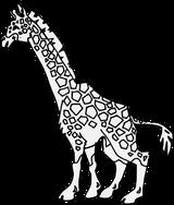 Imprimer le coloriage : Girafe, numéro f681f883