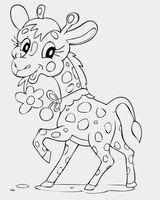 Imprimer le coloriage : Girafe, numéro fc4581d3