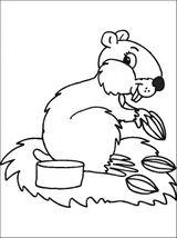 Imprimer le coloriage : Hamster, numéro 142007