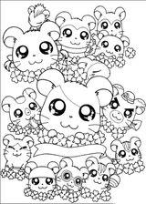 Imprimer le coloriage : Hamster, numéro 17102