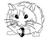 Imprimer le coloriage : Hamster, numéro 3406