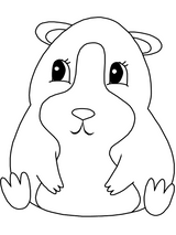 Imprimer le coloriage : Hamster, numéro 3417