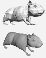 Imprimer le coloriage : Hamster, numéro 3419