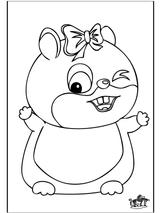 Imprimer le coloriage : Hamster, numéro 3420