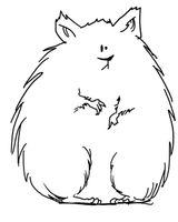 Imprimer le coloriage : Hamster, numéro 3424