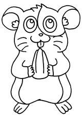 Imprimer le coloriage : Hamster, numéro 3a3fdf3e