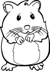 Imprimer le coloriage : Hamster, numéro 40a00f25