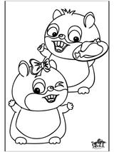 Imprimer le coloriage : Hamster, numéro 5307